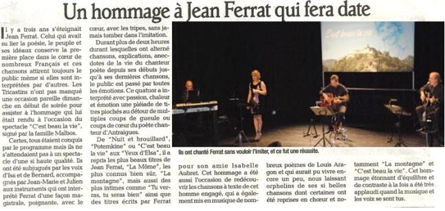 Extrait de presse Jean Ferrat
