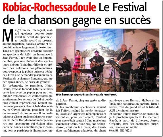 Midi Libre Robiac 2015 Ferrat